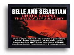 Belle And Sebastian Framed Gig Poster Print by indieprints on Etsy, $20.00