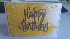 """""""Happy Birthday"""" Stanze für die Big Shot und  Designerpapier Farbenspiel von Stampin´Up!"""