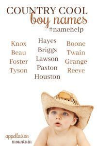 Looking for country cool #boynames? Start with this list!