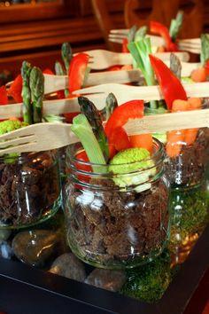 a new way to look at veggies & dip.. omg looks sooo good!! love this idea.