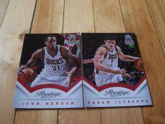 John Henson Ersan Ilyasova 2013 14 Panini Prestige Milwaukee Bucks 2 Card Lot | eBay