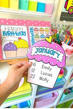 Birthday Display In Classroom, Birthday Bulletin Boards, Classroom Displays, First Grade Classroom, New Classroom, Kindergarten Classroom, Classroom Themes, Classroom Activities, Classroom Display Boards