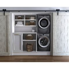 laundry ideas Electrolux Stacked Washer & Dryer Set with Front Load Washer and Gas Drye Laundry Dryer, Laundry Closet, Laundry Room Organization, Washer Dryer Closet, Stackable Washer And Dryer, Stacked Washer Dryer, Small Washer And Dryer, Small Laundry Rooms, Laundry Room Design