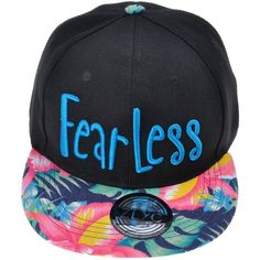 ZLYC Women Floral Tropical Print Neon Embroidered Word Snapback... ❤ liked on Polyvore featuring accessories, hats, ball cap, embroidered baseball caps, baseball hats, snapback baseball caps and white hat