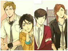 When physics club full of smart handsome guys. *Kyaaa.. #304thstudyroom by #feliciahuang #webtoonindonesia