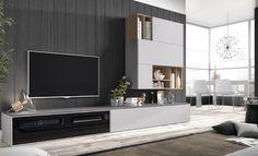 Mueble moderno de salón del fabricante @Mesegue, calidad y diseño unido. #mueblesalon #salon
