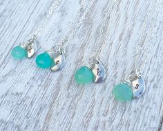 Bridesmaid sets of 4,5,6, beach wedding, blue chalcedony, wedding party https://www.etsy.com/listing/281633212/bridesmaid-necklace-set-of-4-5-6