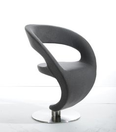 Modrest Alya Modern Grey Fabric Lounge Chair