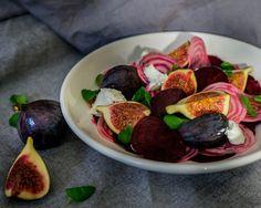 Syksyn värit lautasella – Punajuuri – viikunasalaatti vuohenjuustolla   Mama Gastro
