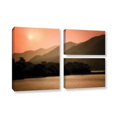ArtWall Peach Dream by Dennis Frates 3 Piece Photographic Print on Wrapped Canvas Set