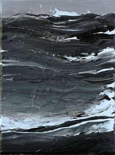 #acrylic #painting #art - The Sea in Black-and-White by Werner Knaupp