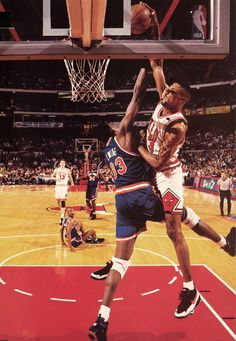 Pippen dunks on Ewing.  The next 10 seconds after are just as awesome