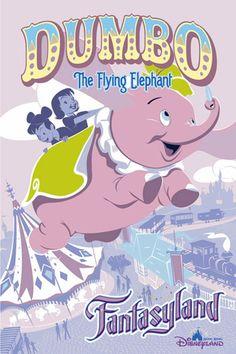 Dumbo the Flying Elephant, Hong Kong Disneyland Vintage Disney Posters, Disney Movie Posters, Cartoon Posters, Vintage Disneyland, Vintage Cartoon, Cartoons, Disney Rides, Disney Love, Disney Pixar