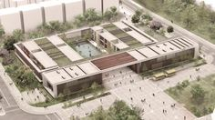 The District Department of Education partnered with architect Frank Locker for new design schools that seem least one prison and a learning space. Green Architecture, School Architecture, Landscape Architecture, Landscape Design, Architecture Design, Landscape Steps, Residence Senior, Hospital Design, Arch Model