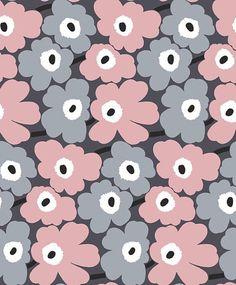 marimekko fleur Iphone Wallpaper Vsco, Photo Wallpaper, Cool Wallpaper, Wallpaper Backgrounds, Marimekko Wallpaper, Pattern Wallpaper, Pattern Drawing, Pattern Art, Rose Gold Wallpaper