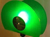 Stehlampe aus Schallplatte, Lampe, Design Leuchte