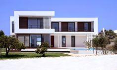 Casa Moderna en Menorca por Dom Arquitectura, Menorca España http://www.arquitexs.com/2011/05/casas-modernas-fachadas.html