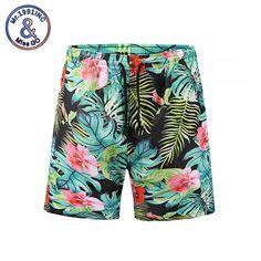 a7a9665a66 Mr.1991INC Casual Shorts Men 2018 New Beach Board Shorts 3d Plant Printing  Male Fast