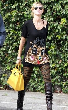 Heidi Klum with a #Hermès #Birkin