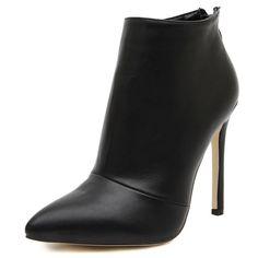 Neue frauen pumps high heels stiefel schuhe frau spitz hochzeit kleid stöckelschuhe damen kurze stiefeletten reißverschluss größe 35-40