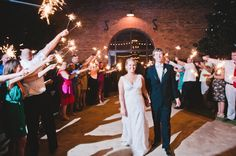 Bride & Groom sparkler departure | Tucker Plantation Wedding | Brita Photography