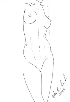 Line Drawing Nude 102