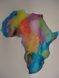 Original water colour painting of Africa