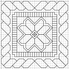 Paper Embroidery Patterns Janome quilt designs (multiple in link) - A good quilt is an asset to have for a whole range of occasions. Have fun making your own one and selecting your own pattern with our guide here! Blackwork Patterns, Blackwork Embroidery, Paper Embroidery, Learn Embroidery, Zentangle Patterns, Embroidery Stitches, Embroidery Patterns, Cross Stitch Patterns, Quilt Patterns