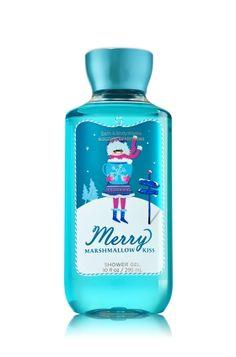 Merry Marshmallow Kiss Shower Gel - Signature Collection - Bath & Body Works Bath N Body Works, Bath And Body Works Perfume, Body Wash, Body Gel, Victoria Secret Fragrances, Body Spray, Smell Good, Shower Gel, Body Lotion