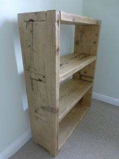 Rustic bookcase, hand made from reclaimed Scaffold boards to your custom size | eBay