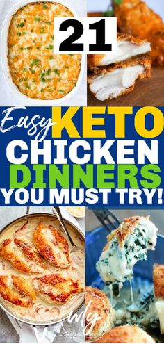 20 BEST Keto Chicken Recipes You Have to Try! 20 of the most popular keto chicken recipes you MUST TRY! Easy keto chicken dinners makes the ketogenic diet easy. Recipes include slow cooker, oven baked, casserole, instant pot and more! Ketogenic Diet Meal Plan, Diet Meal Plans, Ketogenic Recipes, Diet Recipes, Healthy Recipes, Easy Recipes, Keto Meal, Ketogenic Breakfast, Diet Breakfast