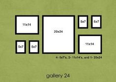 Wall photo layout ideas for hanging by angela