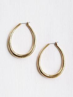 Tilda Hoop Earrings, Gold | Common Muse
