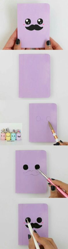 + Ink Pad)/Set Diy Kawaii Wooden Rubber Cat Stamp For Diary Photo Album Scrapbooking Creative Gift Toy^.Notebook Part 3 Kawaii Diy, Kawaii Crafts, Cute Crafts, Diy And Crafts, Arts And Crafts, Diy Back To School, School School, Cute School Supplies, Diy Notebook