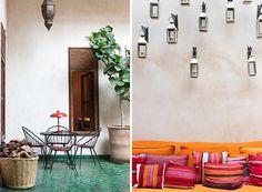 Riad El Fenn | Rue… colour fest! Those jade jewel-like floors…