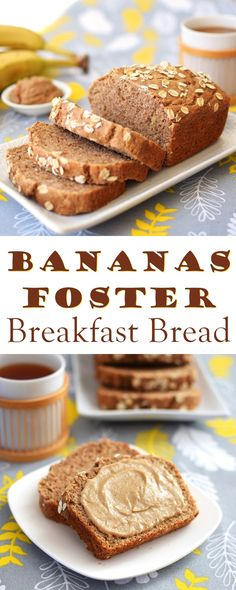 Bananas Foster Breakfast Bread - Better for you, delicious, vegan, plant-based, dairy-free, egg-free and whole grain recipe! @lovemysilk @target #ad