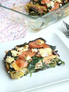 Lasagne met spinazie en zalm - Uit Paulines Keuken