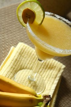 Banana Margarita (1 oz Tequila Juice from half of a Lime .5 oz Creme De Banana)