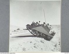 1942-01. BRITISH TROOPS IN THE CRYRUS REGION ARE HAVING EXTENSIVE TRAINING. A BREN GUN CARRIER COVERING ROUGH COUNTRY DURING EXERCISES.