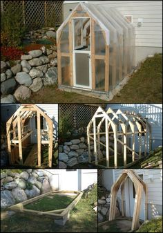 How To Build A Handmade Greenhouse  http://theownerbuildernetwork.co/caru  This homemade greenhouse is perfect for those of you who are new to DIY projects. It's very easy to build, inexpensive, and easy to install.