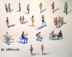 """watercolour people page"" original fine art by Nora MacPhail"