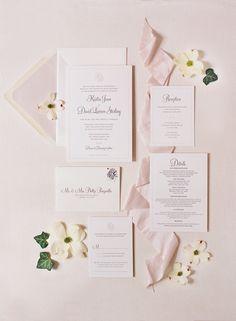 fine art letterpress wedding suite