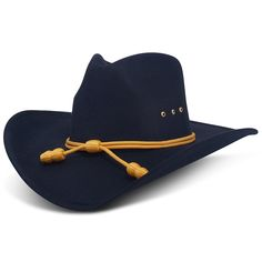 Western Cowboy Hat - Cavalry Band - Black - Pinch Front - C511H7LT6PR 28d3e1323035