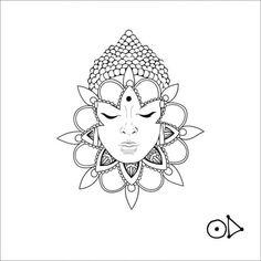 Wrist Tattoos, Sleeve Tattoos, Buda Tattoo, Buddha Tattoo Design, Hindu Tattoos, Dot Work Tattoo, Chest Tattoo, Mandala Tattoo, Tattoo Sketches
