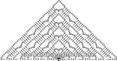 Crochet shawl pattern diagram free knitting 48 ideas for 2019 Crochet Shawl Diagram, Poncho Au Crochet, Crochet Shawls And Wraps, Crochet Chart, Knitted Shawls, Crochet Scarves, Crochet Motif, Crochet Clothes, Crochet Lace