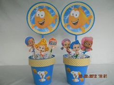 Bubble Guppies Centerpieces by KeepsakeToppers on Etsy, $24.00