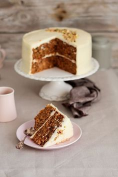 carrot cake by food and cook Sweet Recipes, Cake Recipes, Dessert Recipes, Cake Thermomix, Cake Cookies, Cupcake Cakes, Carrots N Cake, Best Cake Ever, Gateaux Cake