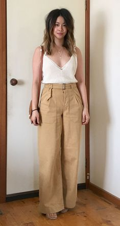 Zara knit cami | Topshop pants Fashion Design Sketches, Jeans, Cami, Casual, Khaki Pants, Topshop, Dressing, Rich Colors, Style Inspiration