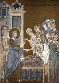 Raising of the Son of the Widow of Nain Date: approximately 1180