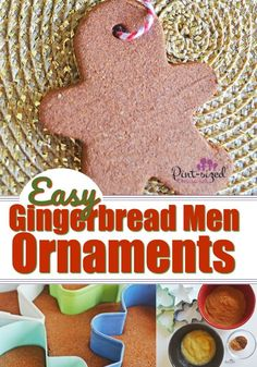 Salt Dough Gingerbread Ornaments are a fun classic Christmas ornament to make with the kids! These smell amazing and use super simple ingredients! Gingerbread Salt Dough, Gingerbread Ornaments, Gingerbread Man, Easy Christmas Ornaments, Homemade Christmas, Simple Christmas, Christmas Tree, Christmas Ideas, Christmas Goodies